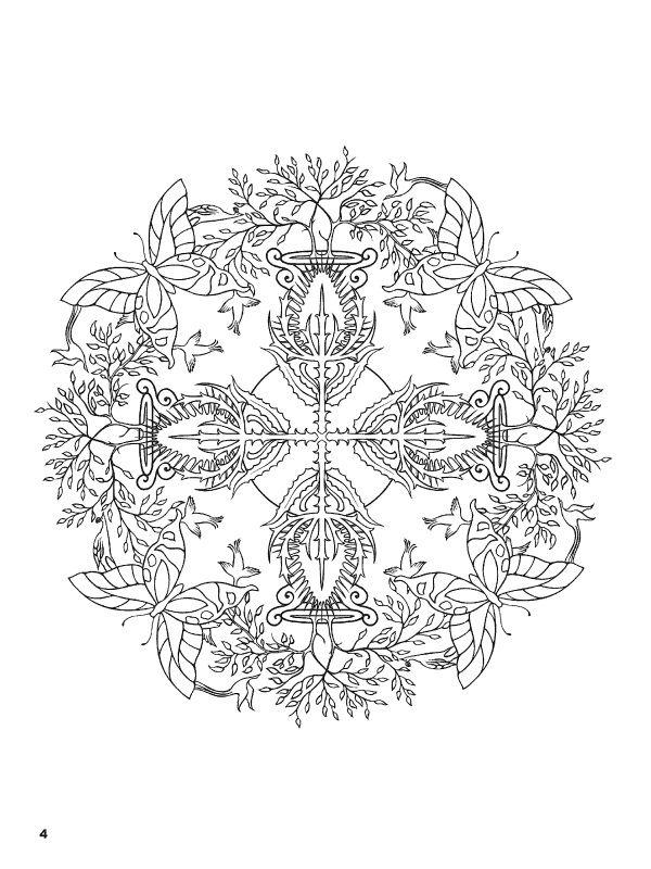 Nature Mandalas Coloring Book | Coloring book art, Mandala ...
