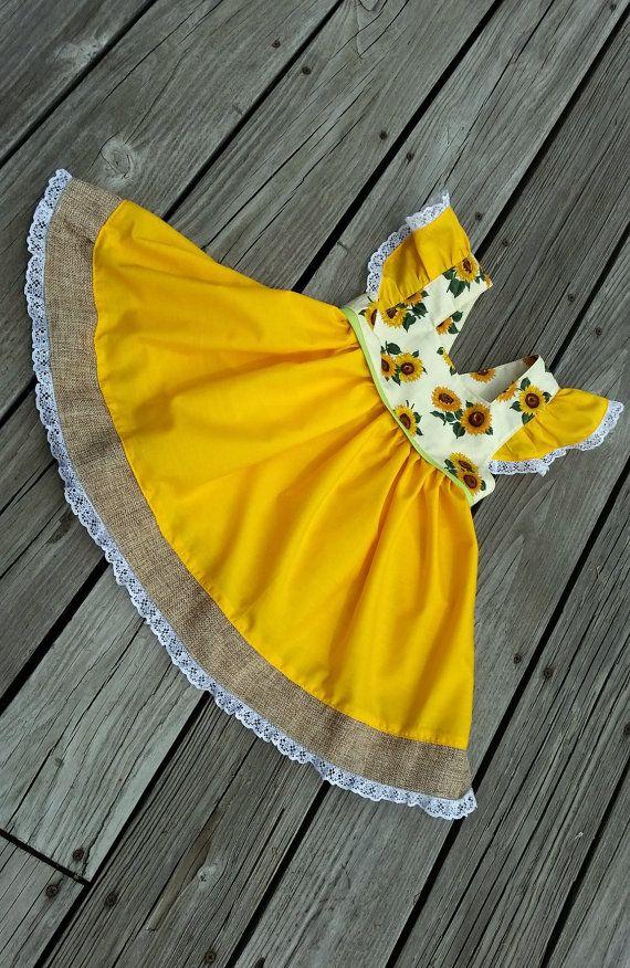 Sunflower Toddler Dress Birthday