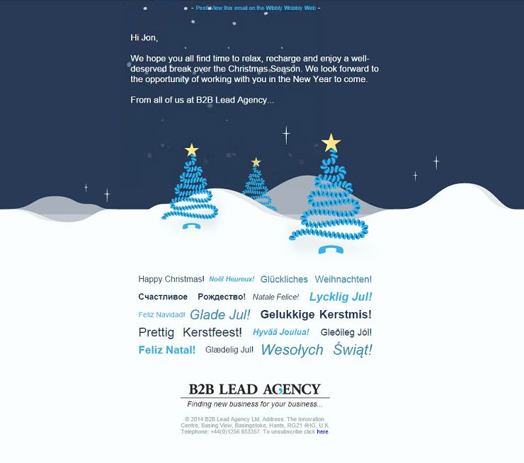 Responsive Animated Christmas Email Design Company B2b Lead