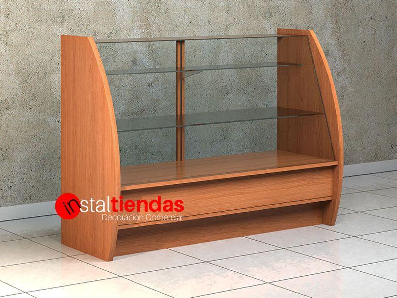 Casa De Muñecas Tienda De Mesa Vitrina Mostrador de nogal muebles de tienda de Montaje 1:12