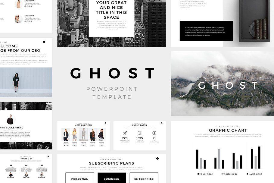 Ghost Minimal Powerpoint Templatepresentation design  presentation layout  presentation  presentation board design  presentation template