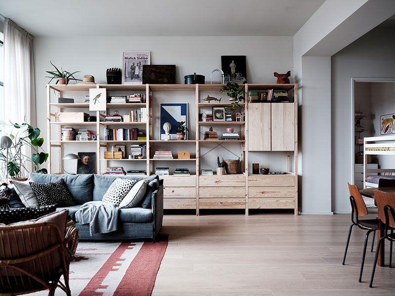 Cozy Modern Apartment In Former Industrial Building In Stockholm Foto Idei Dizajn Living Room Scandinavian Floor To Ceiling Windows Scandinavian Apartment