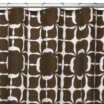 Brown Floral Shower Curtain - Fabric | For the Home | Pinterest ...