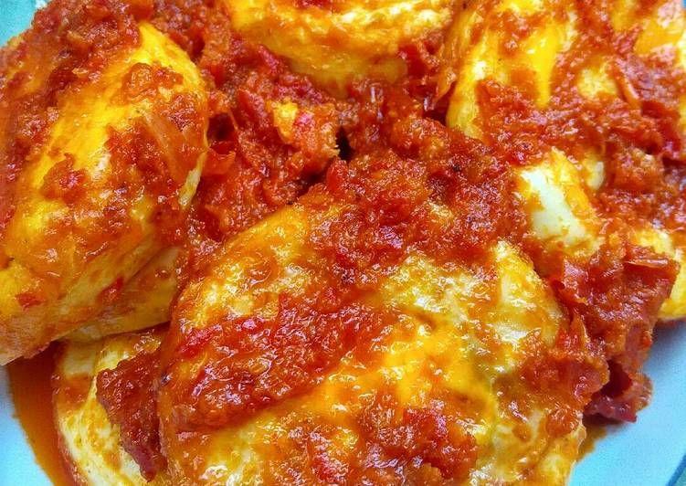 Resep Telur Ceplok Balado Oleh Rizky Malihah Resep Resep Makanan Resep Telur