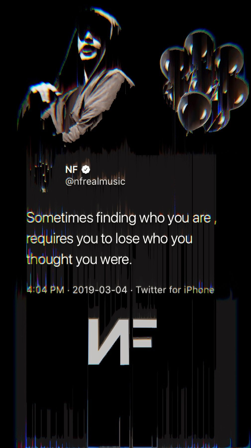 Made An Nf Wallpaper With Very Meaningful Tweet Nf Lyrics Nf Quotes Nf Real Music