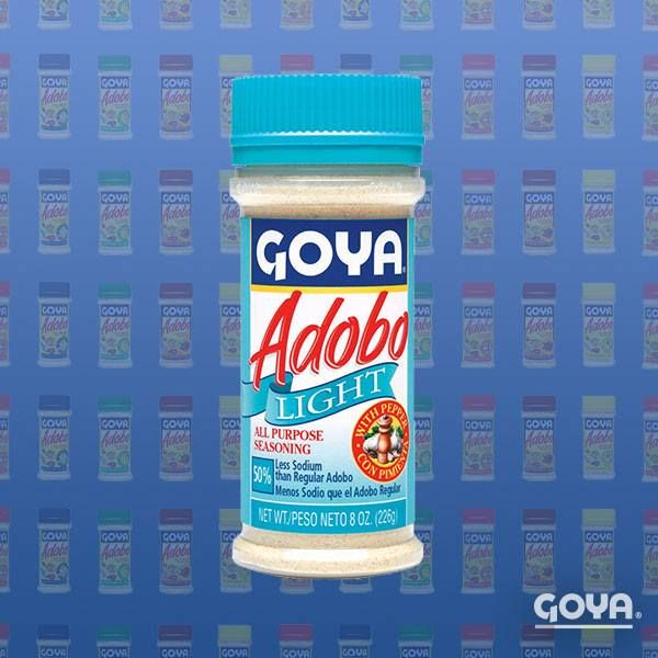 Looking For A Healthier Way To Season Your Grilling Meat Goya Adobo Light Is The Perfect Blend For Those Who Are Watching Their Adobo Goya Foods Goya Recipe