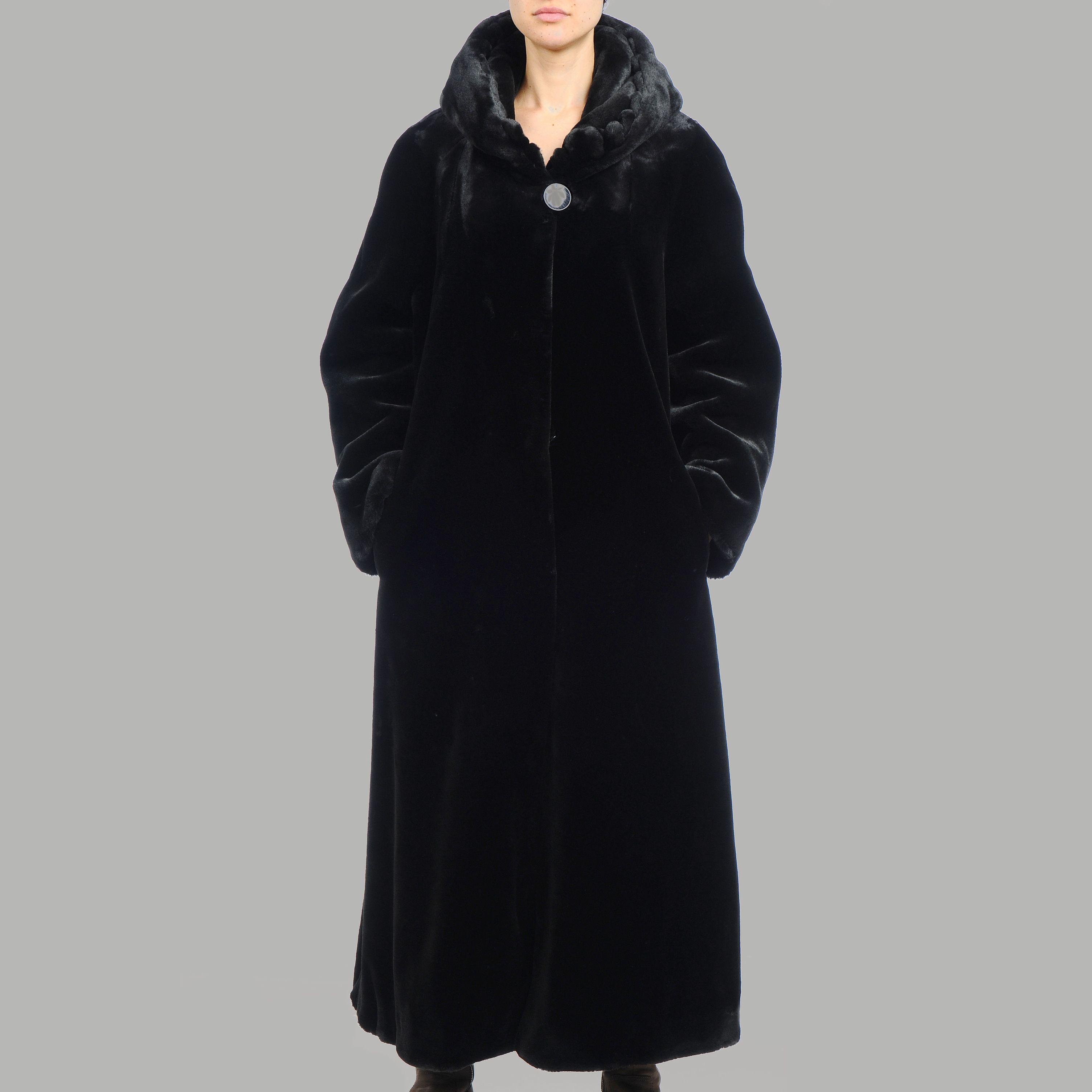 Nuage Women's Beaver Faux Fur Coat