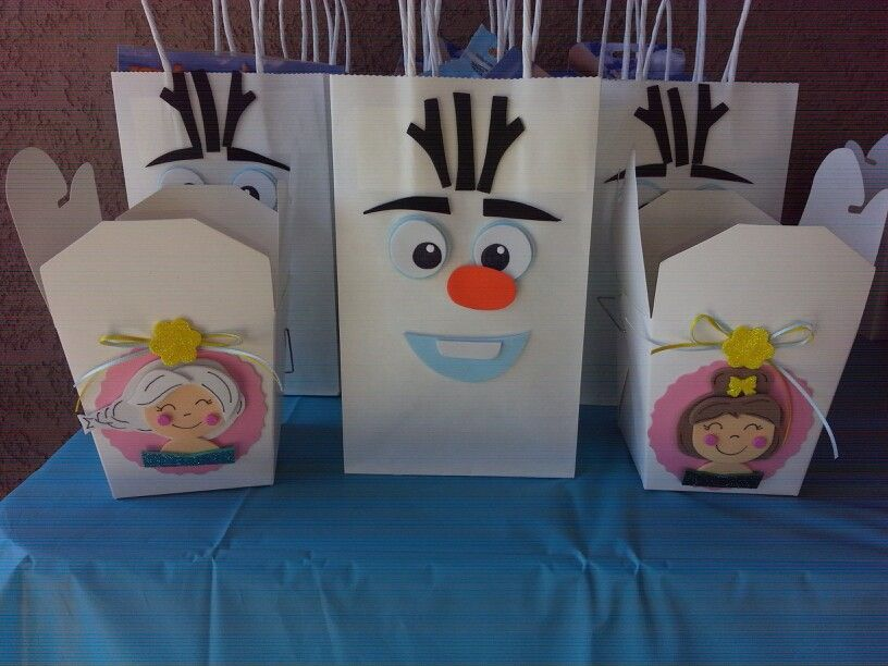 Handmade party favor bags and boxes