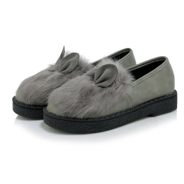 7a647d94325 Odetina Suede Fur Loafers Women Large Size Boat Shoes Ladies Slip on Shoes  Platform Cute Flat