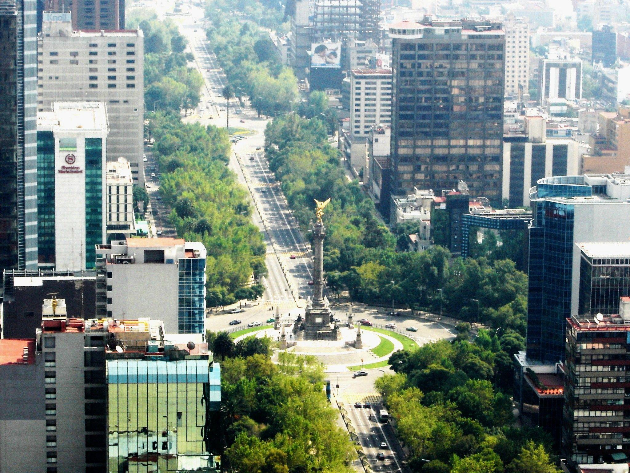 Torre Mayor And Paseo De La Reforma Mexico City