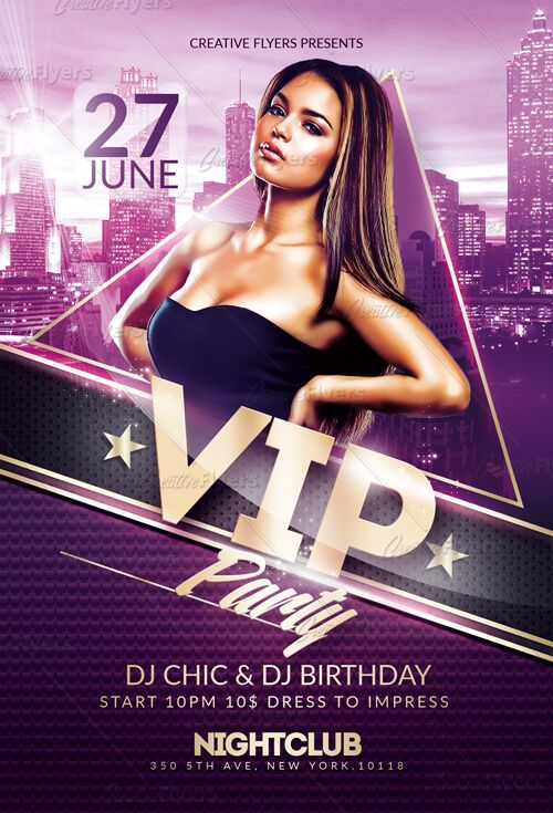 club vip party flyer psd templates design 100