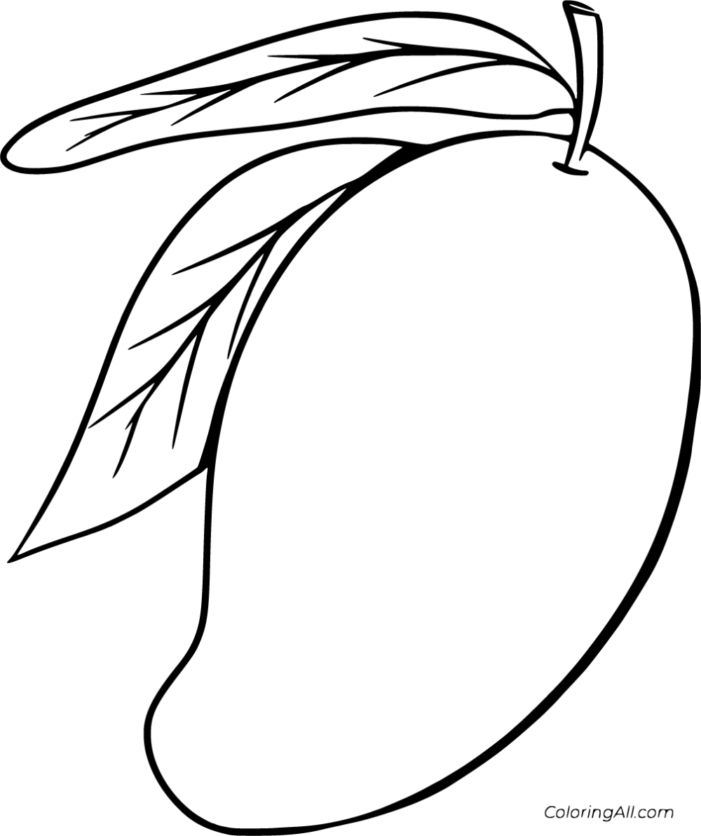 15 free printable Mango coloring pages in vector format