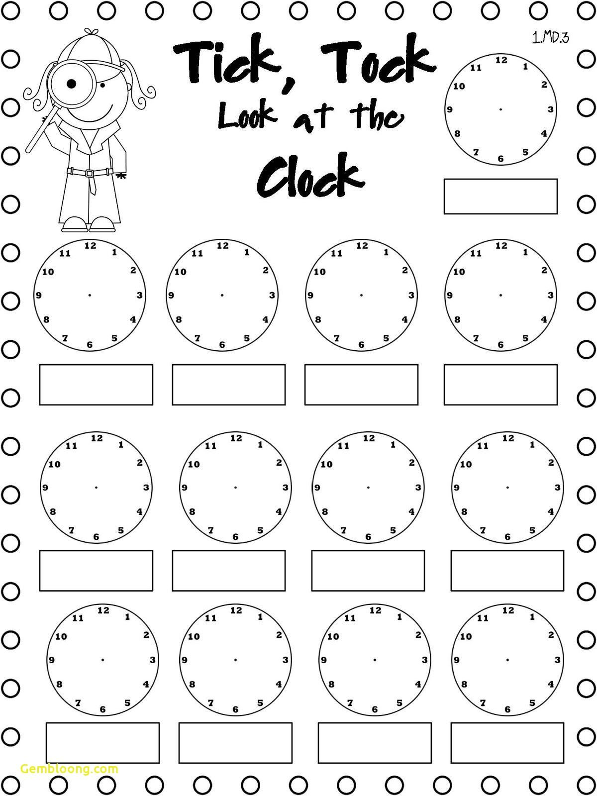 1st Grade Telling Time Worksheets   Printable Worksheets and Activities for  Teachers [ 1600 x 1200 Pixel ]