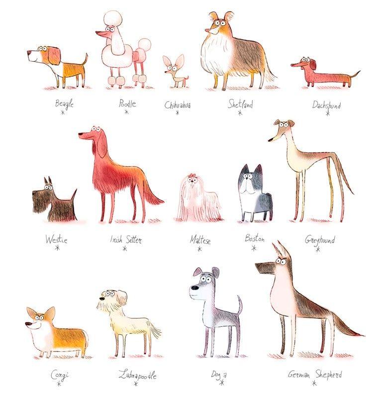 Illustration Louis Thomas Dogs Collection Jpg Louis Thomas