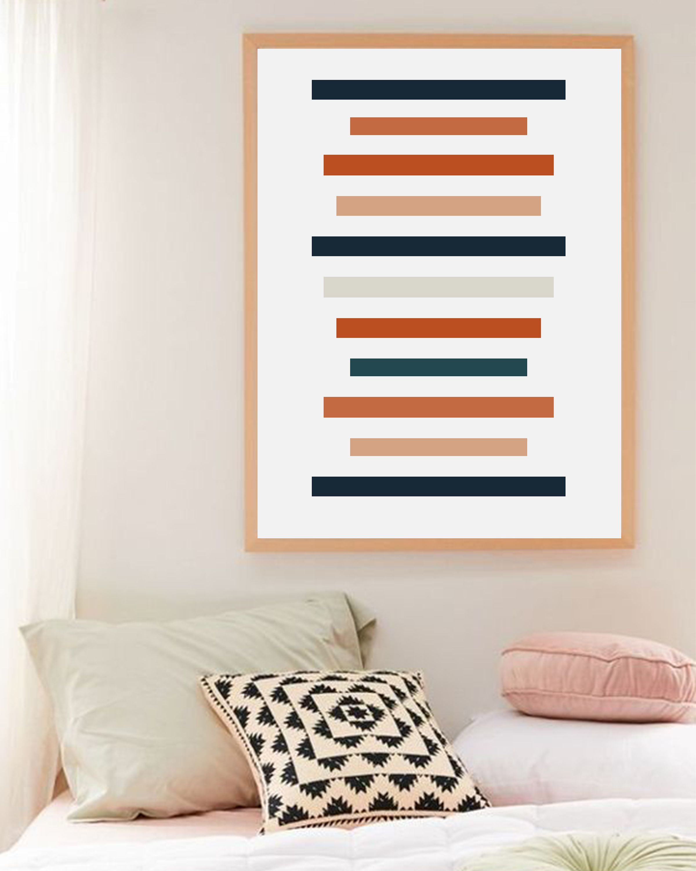Above your bed art from Jo-Lou Design. Add mid-century ... on Modern Boho Wall Decor  id=47274