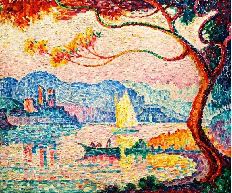Paul Signac - Antibes, petit port de Bacon, 1917.