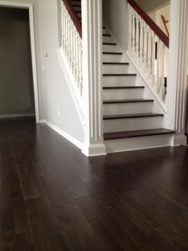 Quot Espresso Wide Plank Floors Were Installed Throughout My