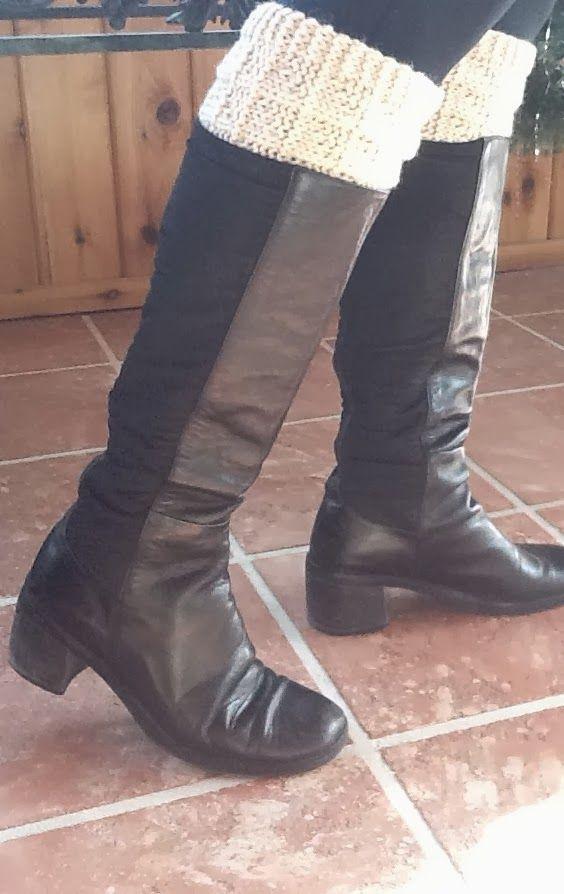 Kriskrafter: Free Knit Pattern! 2-Needle Boot Toppers / Cuffs | yarn ...