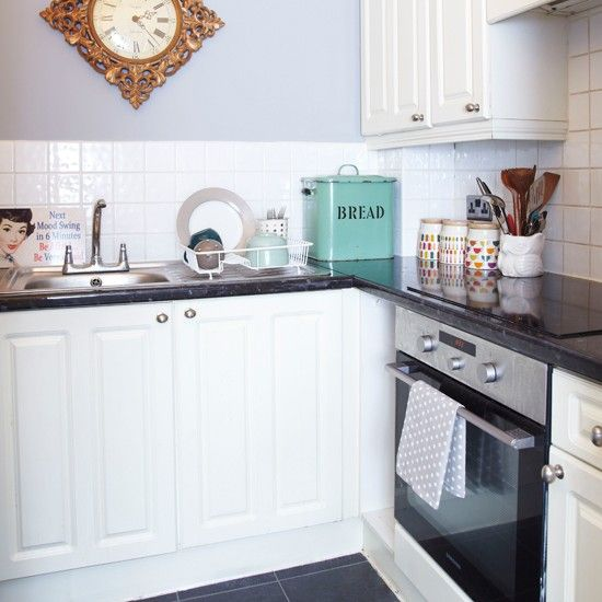 Small grey and white kitchen | Kitchens, Decorating and Small white ...
