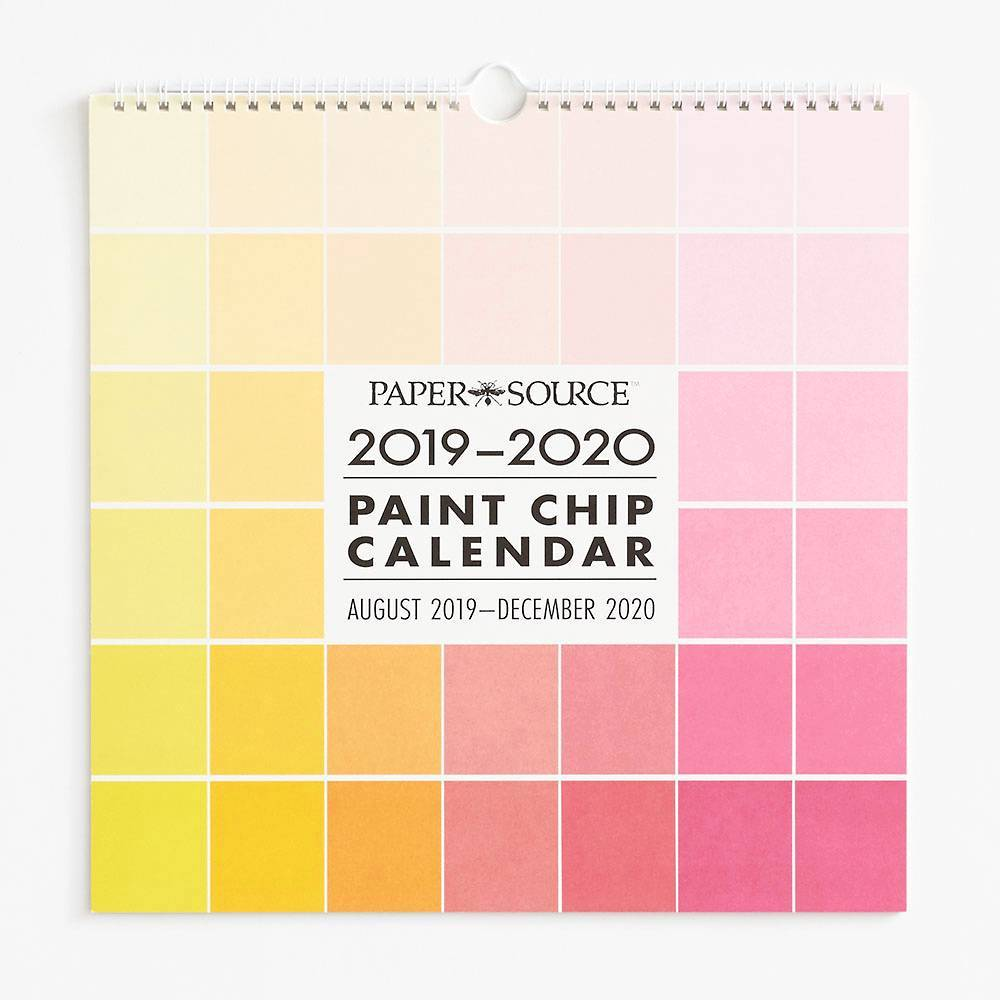 Life In Color 2020.2019 2020 Paint Chip Calendar In 2019 Paint Chip Calendar