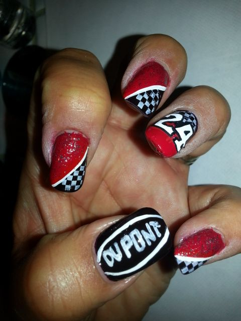 Nascar Nail Art - Nascar Nail Art Nascar Nail Art Pinterest Nascar Nails, Fun