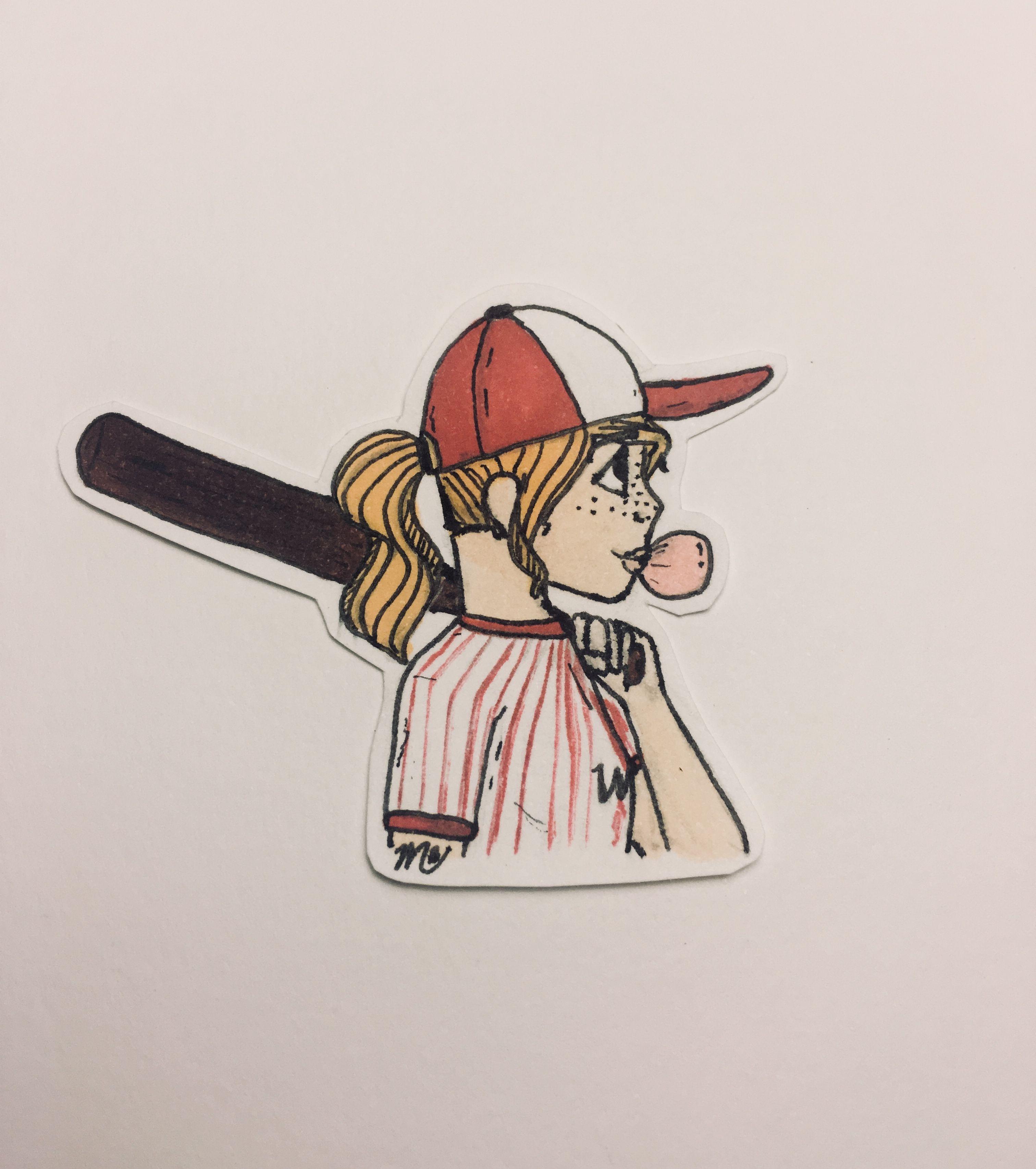 Baseball Girl Drawing Cartoon Cartoon Drawings Girl Drawing Baseball Drawings