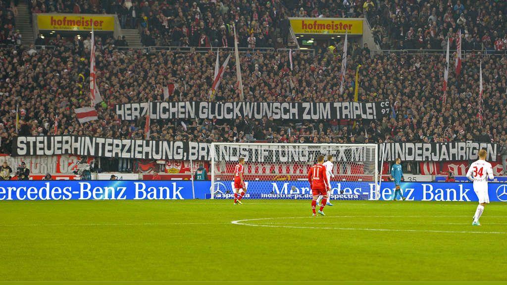 FC Bayern: Fieses Banner der VfB-Fans zu Hoeneß, Breno und Ribéry   FC Bayern