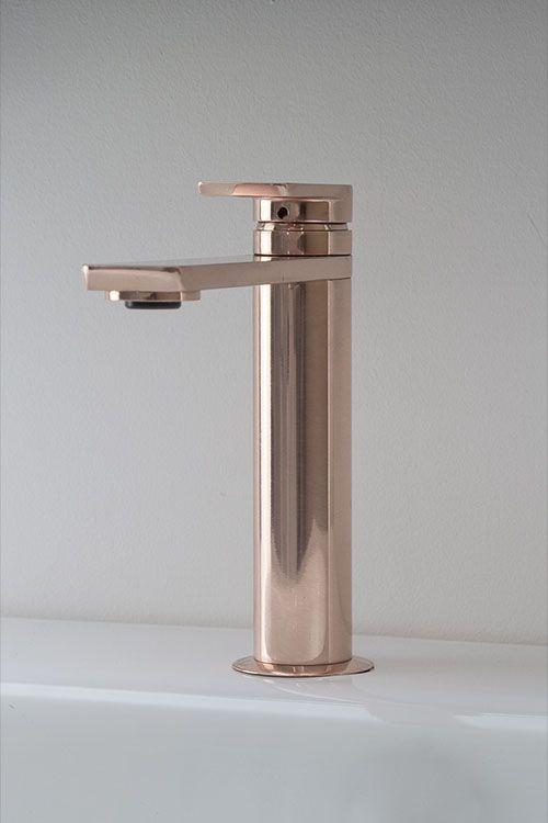 Kara Rose Gold Basin Mixer 42aa Gold Bathroom Bathroom Taps
