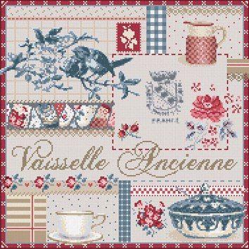 Madame la Fee, Vaisselle Ancienne, схема для вышивания крестом, купить, французская вышивка