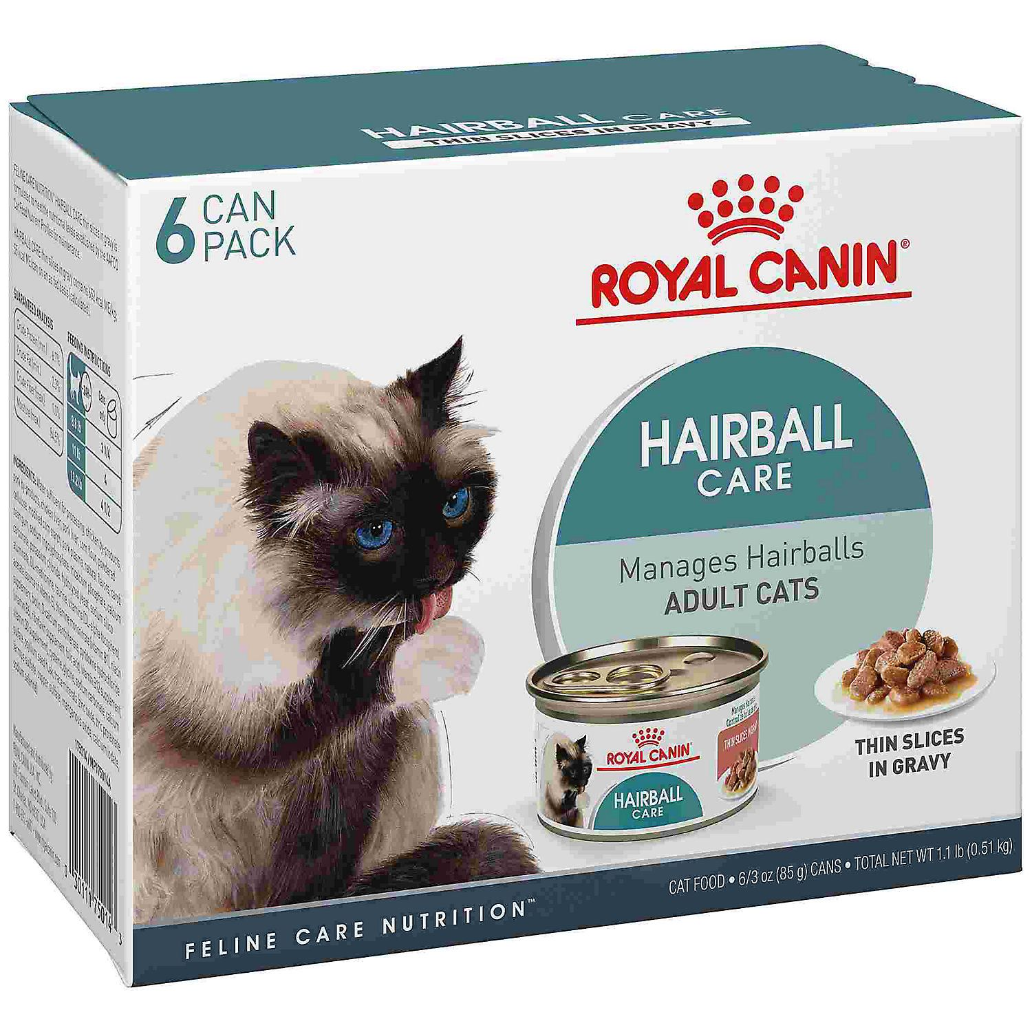 Royal Canin Hairball Care Thin Slices In Gravy Wet Cat Food Multipack 3 Oz Count Of 6 Cat Food Dry Cat Food