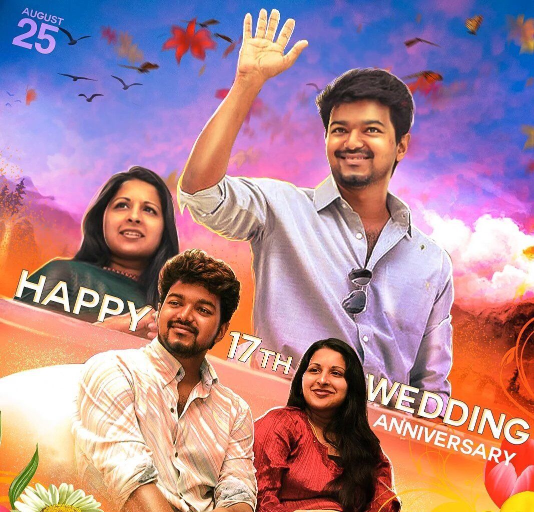 Happy wedding anniversary wishes to Vijay and