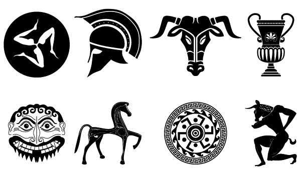Old Vector Pack Of Ancient Greek Designs Ancient Greek Tattoo Ancient Greek Art Ancient Greek Symbols