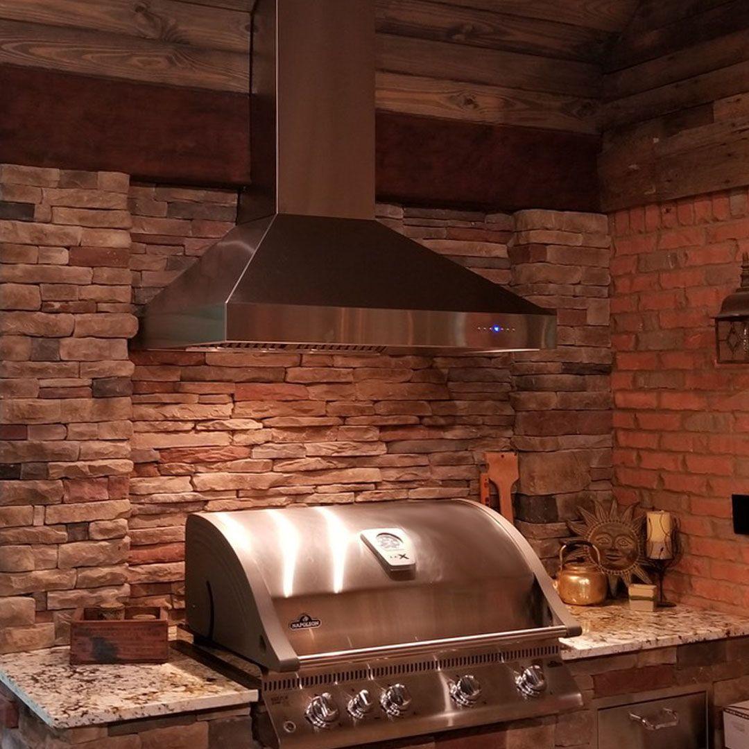 Zline 36 In Outdoor Wall Mount Range Hood In Stainless Steel 697 304 36 Outdoor Kitchen Outdoor Appliances Range Hood