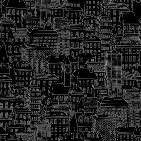 Limelight Black City Wallpaper