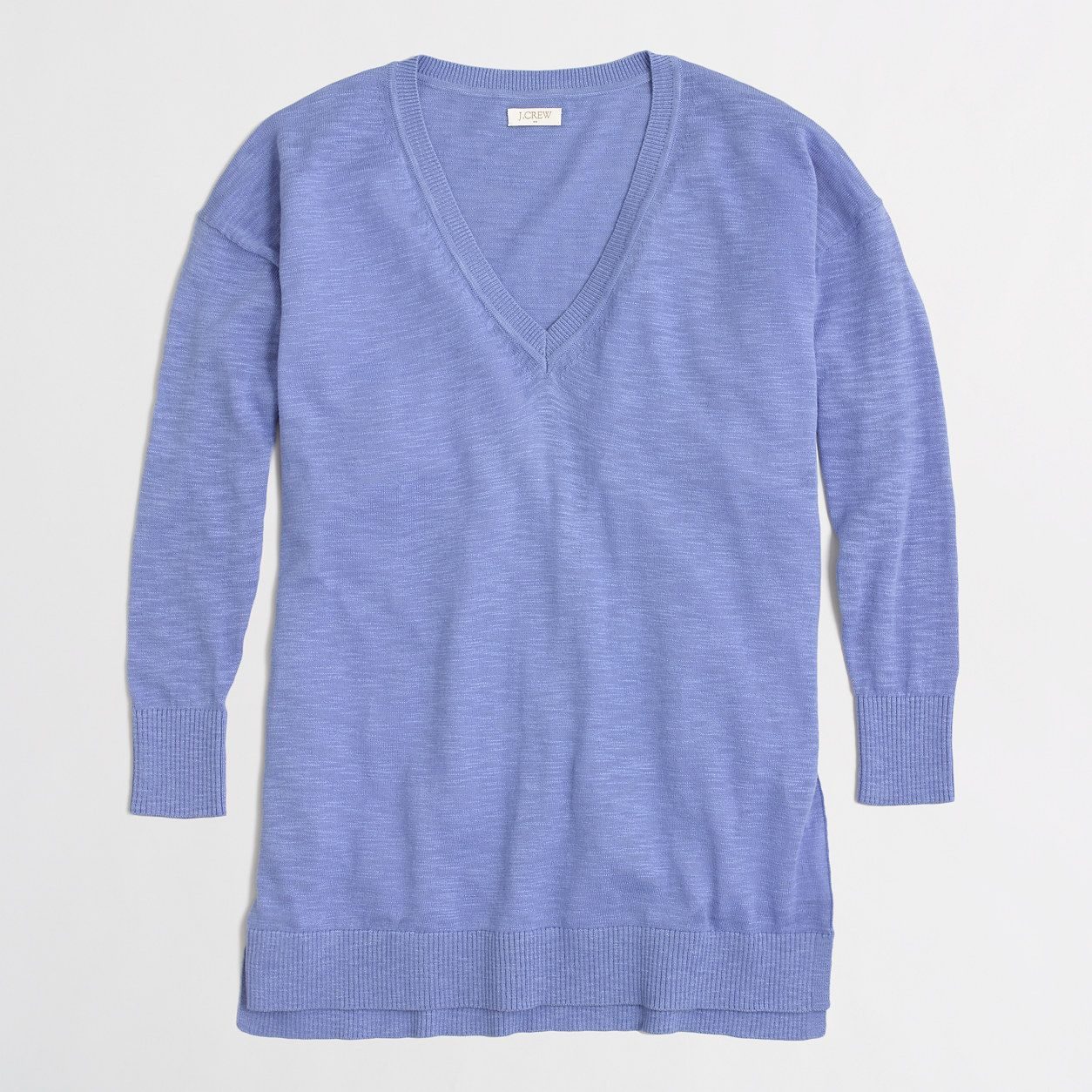 Factory slub cotton V-neck sweater   v-necks  569cd8588