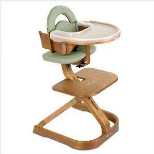 SVAN Cherry Finish Sage Cushion High Chair