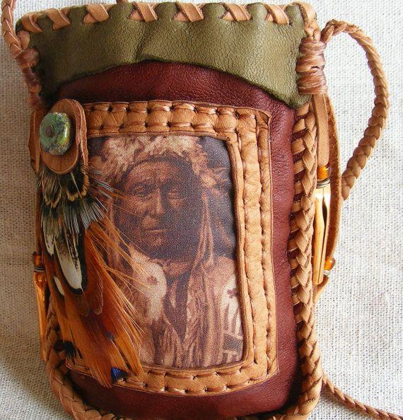 LONG FOX native american style Medicine Bag / by pradoleather