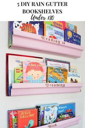 Best Five Diy Rain Gutter Bookshelves Under 10 Gutter 400 x 300