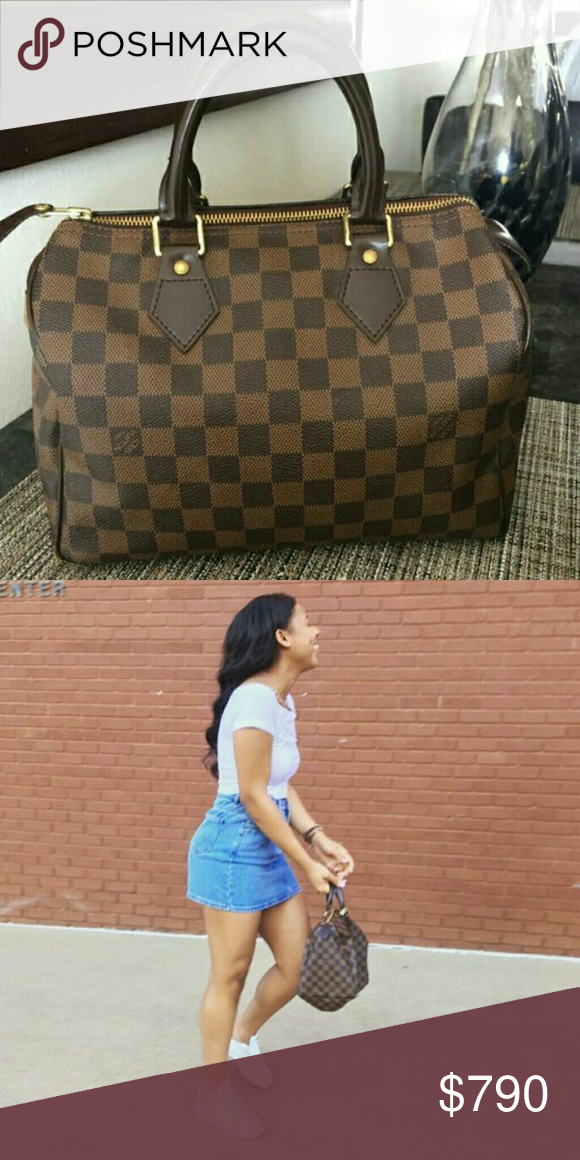 398a2f735ae2 Authentic Louis Vuitton Speedy 25 Damier Ebene One Of My Fav Purses Still  In Mint Condition and It Is Gently Used If You Are Interested Contact Me  prices ...