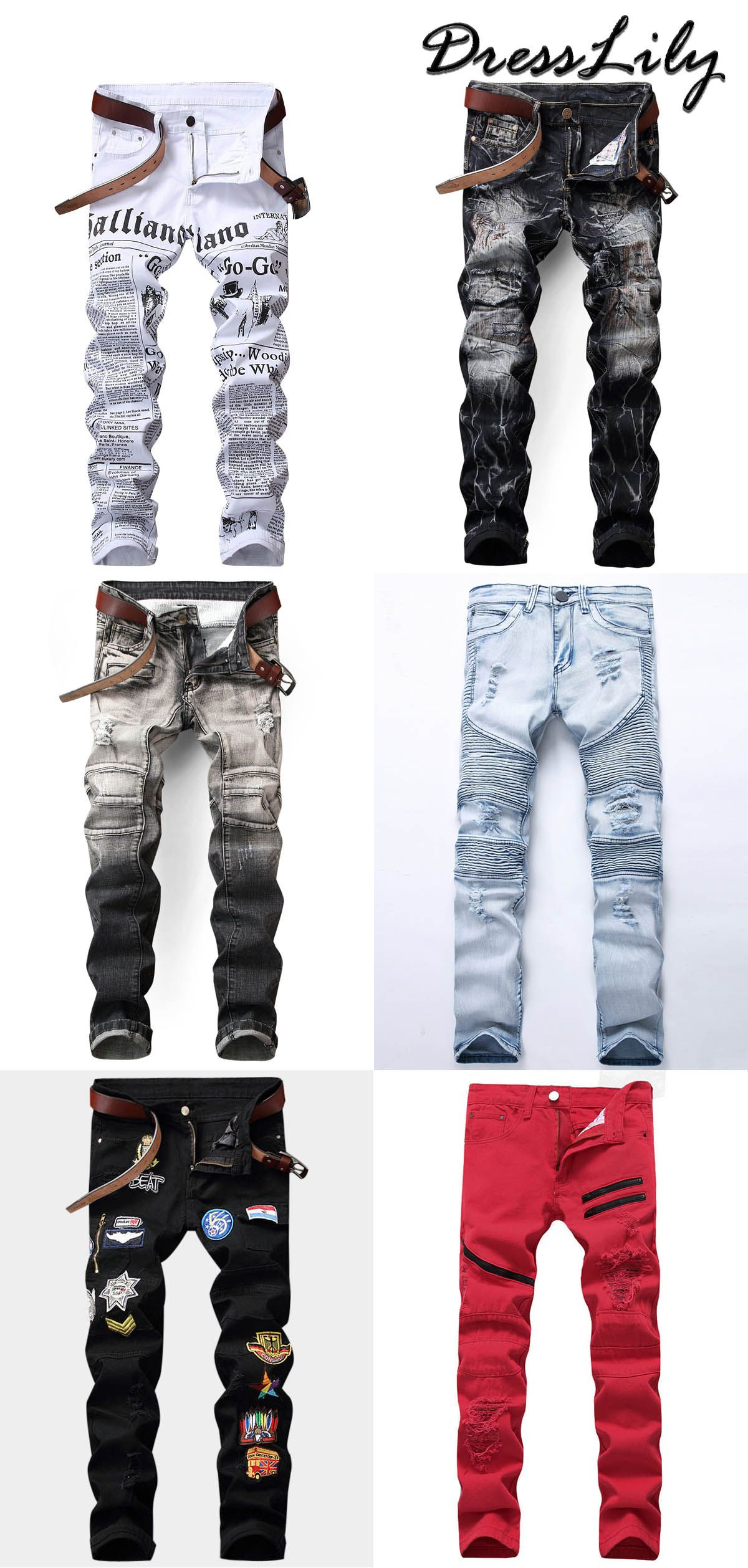 Buy the latest mens jeans pants at a cheapest price in dresslily.com ... 819ad4df5ea0b