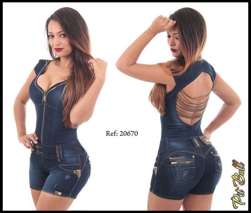 Conjunto jean colombiano dos piezas | Trajes femininos