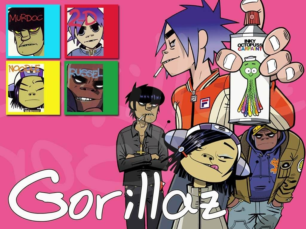 The Gorillaz Rock The House Gorillaz Animated Characters Inspirational Artwork
