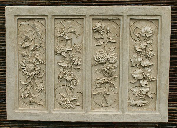 Wall Plaques Glamorous Garden Wall Plaques  Floral Wall Plaques  Four Seasons Wall Inspiration