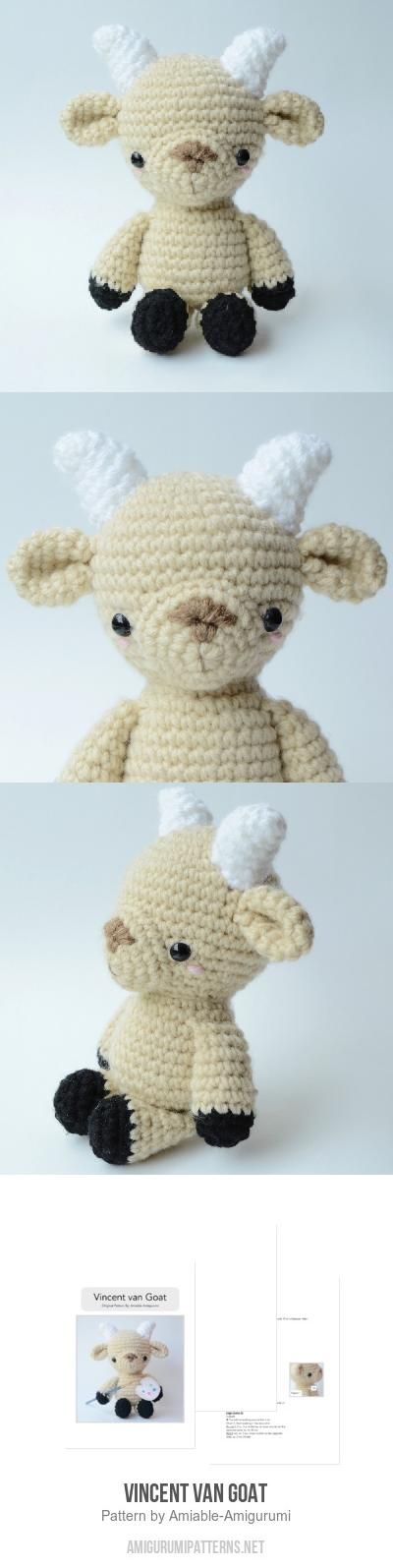 Vincent van Goat amigurumi pattern