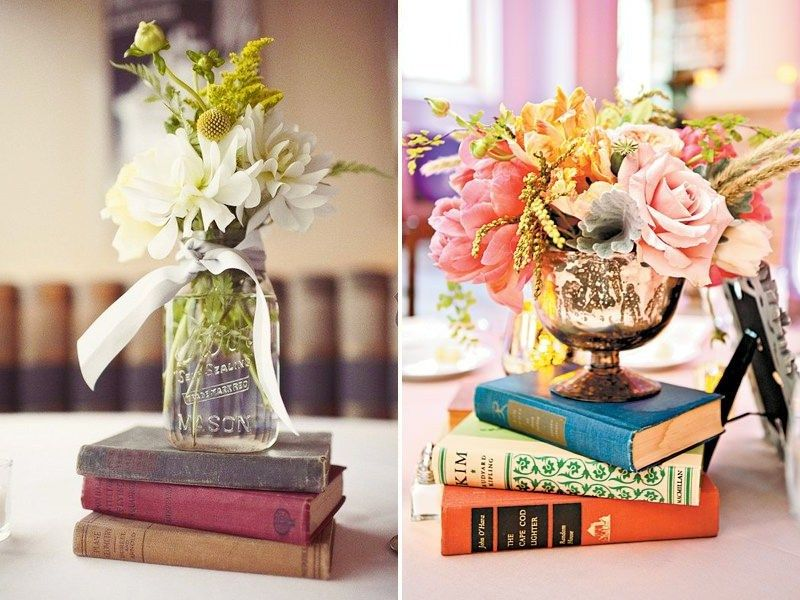 Vintage wedding book decor centrepieces quirky parties quirky vintage wedding book decor ideas the perfect love story quirky parties junglespirit Image collections