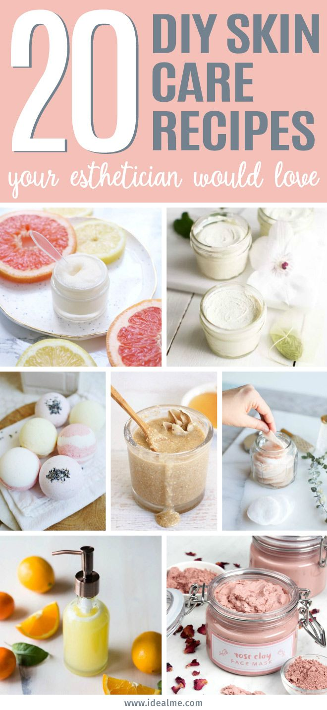 20 Diy Skin Care Recipes Your Esthetician Would Love Ideal Me Diy Skin Care Recipes Diy Skin Diy Skin Care