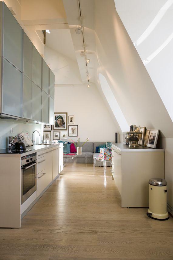 cucina in mansarda kitchen attic Mansarda
