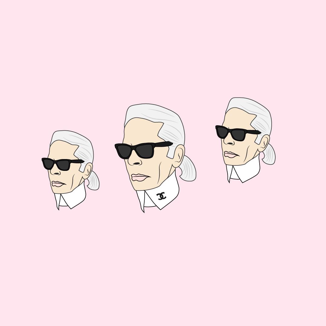 Karl Lagerfeld Vector Illustration In 2019