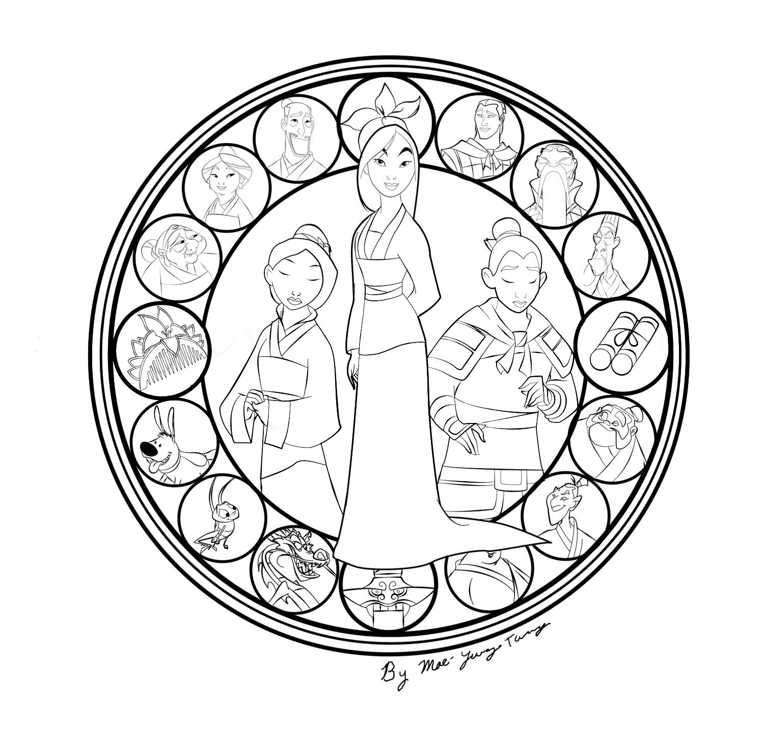 coloring mandalas fruit 36 mulan coloring pages mulan coloring page 3