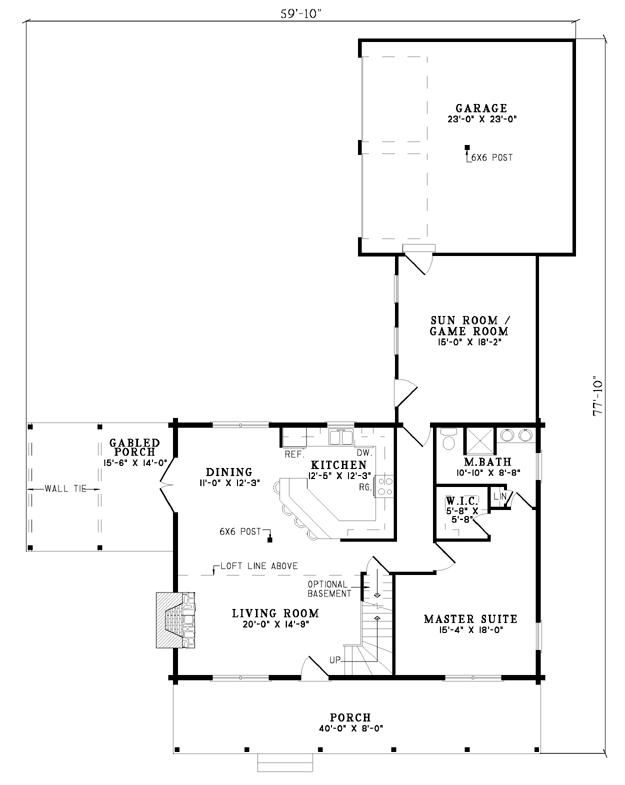 house plan b1032 the rockwood | nelson design group | house plans
